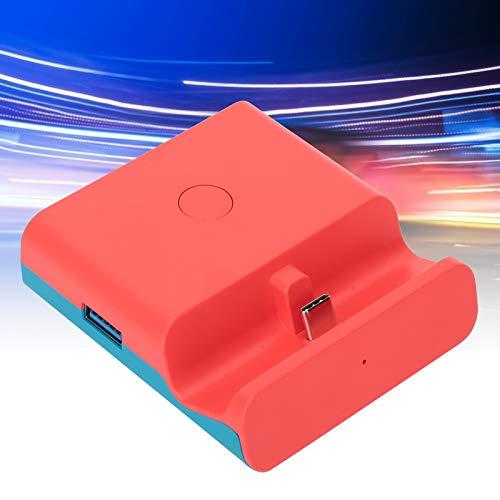Wosune Conversor de vídeo HDMI interruptor livre suporte mecânico imagem mais clara base de carregamento fácil de carregar interruptor Lite para interruptor (vermelho e azul)