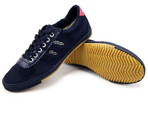 OSdream Canvas Kung Fu Shoes (Black, 45 ( US Men 11  Women 11 1/2)
