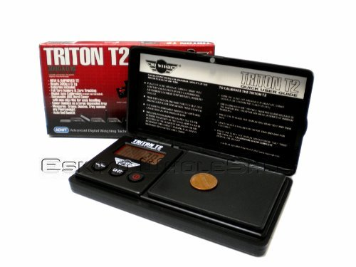 My Weigh Triton T2 - 300g x 0.1g Precision Scale All Black w/ Red Backlit Dig...