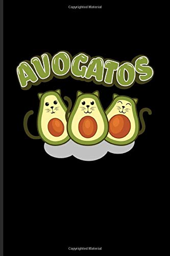 Avogatos: Funny Avocado Puns Journal | Notebook | Workbook For Vegans, Vegetarians And Vegetables - 6x9 - 100 Graph Paper Pages