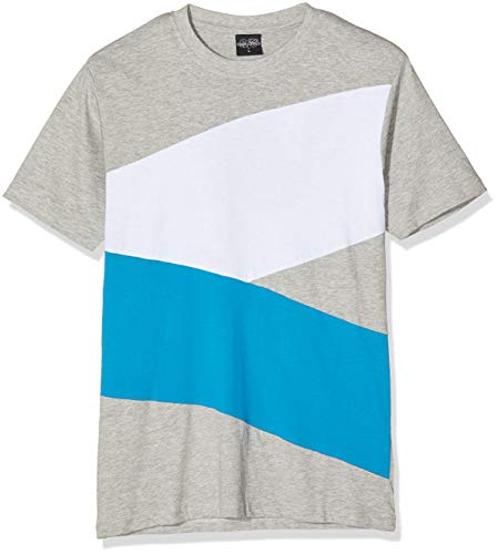 Urban Classics Zig Zag T-shirt pour homme - Multicolore - Grey/Türkis/White - FR: XX-Large (Taille fabricant: XX-Large)