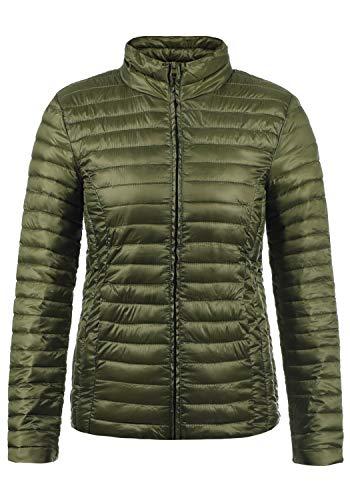 JACQUELINE de YONG Britta Damen Übergangsjacke Steppjacke leichte Jacke gefüttert mit Stehkragen, Größe:M, Farbe:Winter Moss