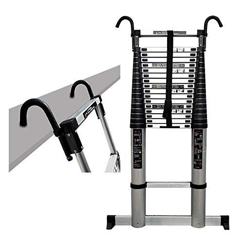 LADDERS Ladder Telescopic Ladders,Atelescoping Ladder with Detachable Hooks, Portable Multi Purpose Telescoping Extendable Ladder for Engineering Loft, 150Kg Capacity,6.2M/20.3Ft