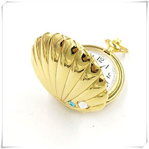 We are Forever Family - Reloj de bolsillo con diseño de mariscos, reloj de moda, reloj dorado, exquisito y único