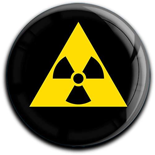 metALUm runder Acrylmagnet mit starkem Neodym - Magnet Radioaktiv #1301040