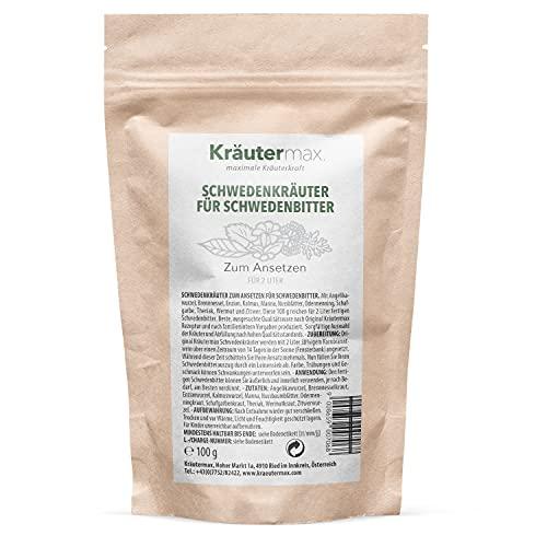 Mezcla de Hierbas Suecas Mezcla Para preparar 2 litros de amargo sueco 1 x 100 g