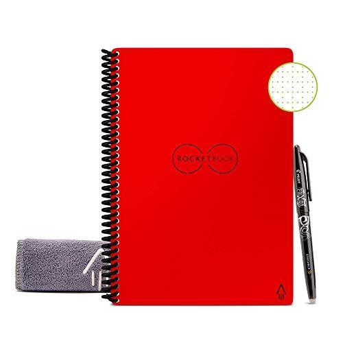 Rocketbook Core Quaderno Smart – Smart Notebook, Cancellabile, Riutilizzabile, Taccuino Digitale, Reusable Notebook per Appunti Digitali, Penna Pilot Frixion e Panno Inclusi (A5, Quadretti)