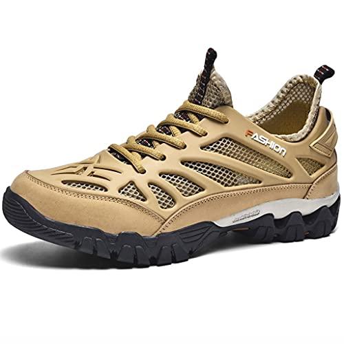 YUESFZ Zapatos De Vadeo, Calzado De Secado Rápido Transpirable De Verano para Hombre, Calzado Anfibio De Exterior Antideslizante, Adecuado para Nadar, Bucear, Pescar (Color : C, Size : US-9(Men))