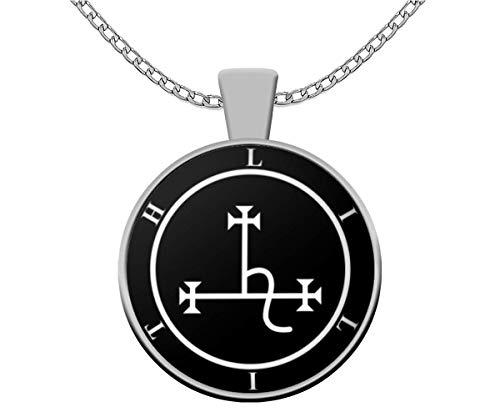 Esoteric necklace - Goddess Lilith sigil seal demon mythology - LaVey 666 satanic Devil Satan occult gift