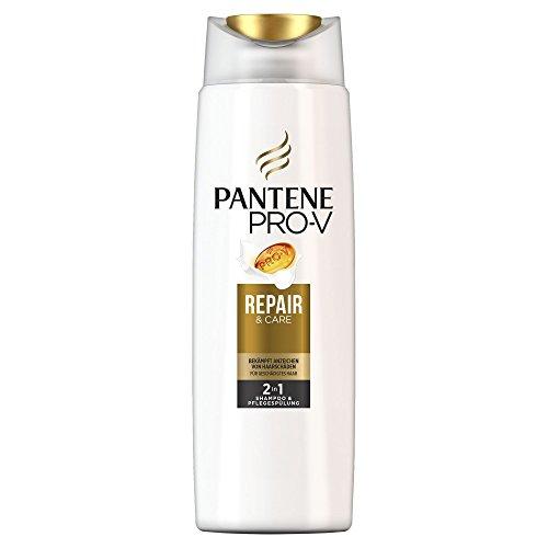 Pantene Pro-V Repair & Care 2 in 1 Shampoo e Balsamo per capelli danneggiati, confezione da 6 (6 X 300 ML).
