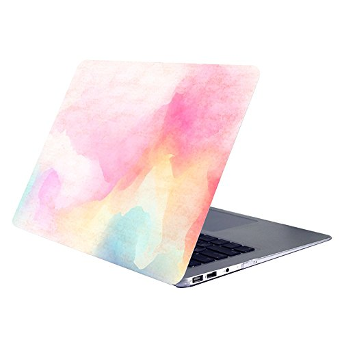 AUSMIX MacBook Pro Retina 13 inch Case (Model:A1502 A1425), Hard PC Shell Smooth Ultra Slim Folio Protective Case Colorful Print Cover for Macbook Pro 13 inch with Retina Display - Pastel Rainbow