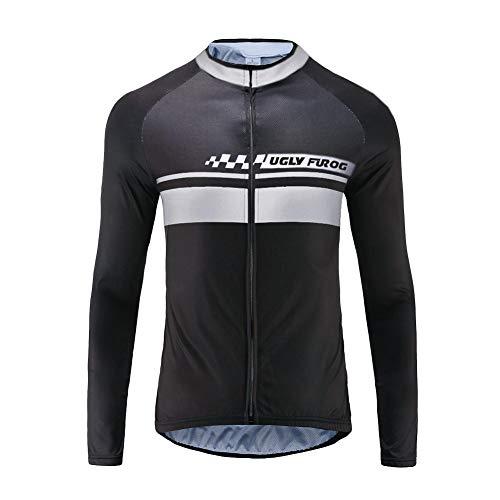 UGLY FROG Neue Klassik Vlies Fahrradtrikot Fahrradbekleidung Winter Herren Thermo Langarmtrikot Radfahren Jersey Triathlon Rennrad Trikots & Shirts Kleidung