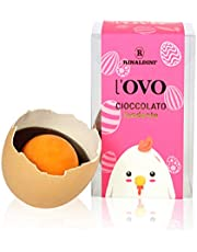 Rinaldini Huevo De Pascua de Chocolate Negro 55% con Cáscara De Verdad Esterilizada | Lote De 9 Huevos