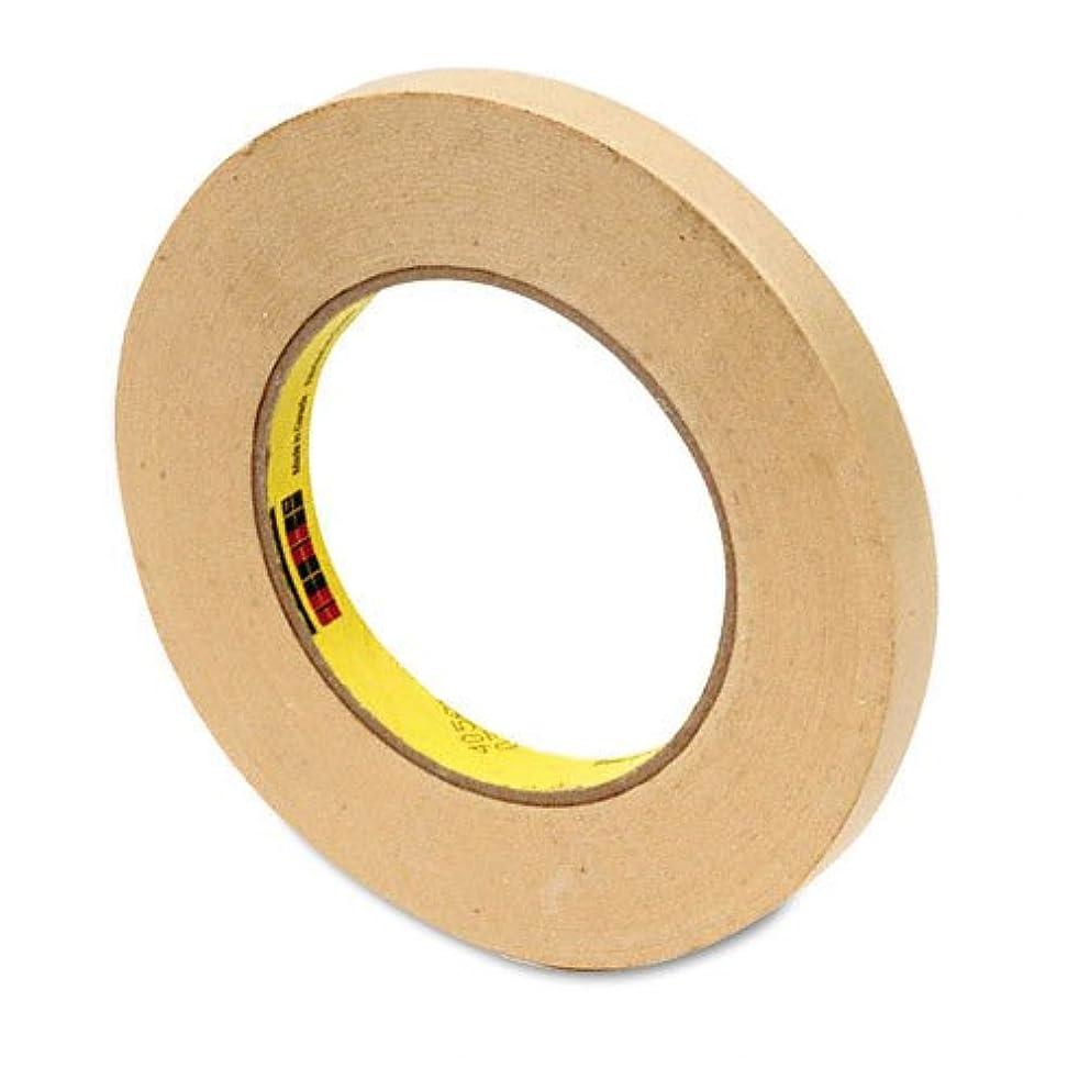 3M High Performance Masking Tape 232 Tan, 12 mm x 55 m 6.3 mil, 72 per case Bulk