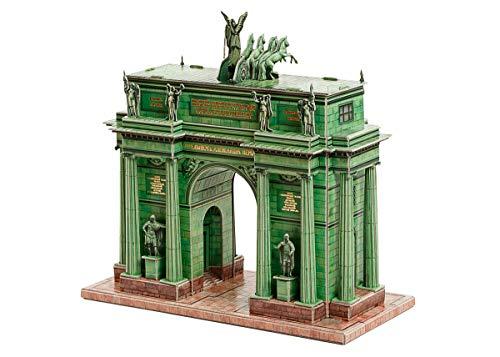 Puzzle 3D 358 Arco de triunfo de Narva de Sankt Petersburgo, serie de arcos y puertas del mundo, papel para modelo de cartón, idea de regalo, juguete para niños, hobby, ferrocarril salmler, 111 piezas