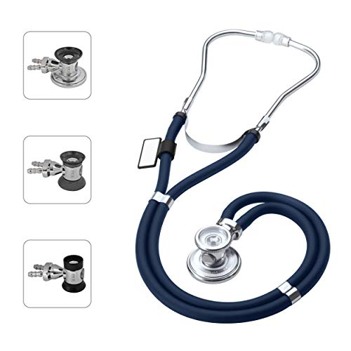 MDF Sprague Rappaport Dual Head Stethoscope with Adult, Pediatric, and Infant Convertible chestpiece - (MDF767) (Navy Blue (Abyss)