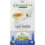 Davidson's Tea English Breakfast, Full Leaf Tea, Organic & Fair Trade, 1.26 Ounce Boxes (Pack of 4)