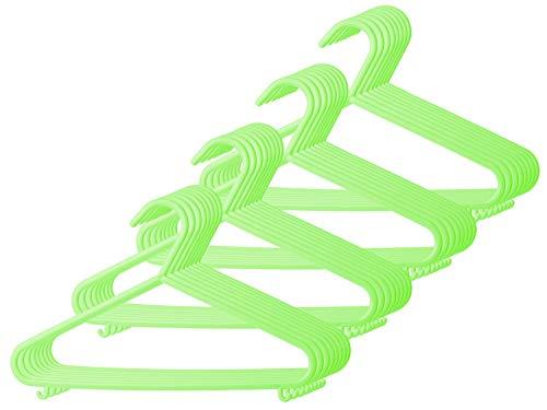Bieco 90032146 Set di 32 Grucce Appendiabiti per Bambini, 29,5 x 18 x4,21, Verde