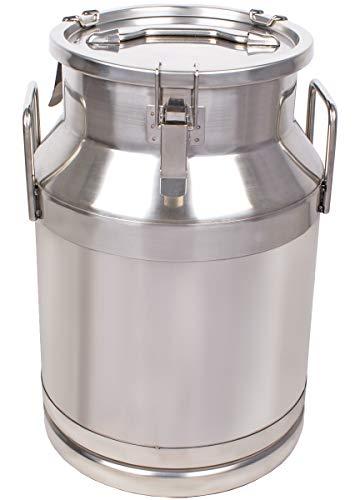 Beeketal \'BMK-30\' Milchkanne Transportkanne 30 Liter aus Edelstahl, auslaufsicherer Deckel mit Spannverschluss und Gummidichtung, Molkerei Milch Kanne zum Transportieren oder zur Aufbewahrung