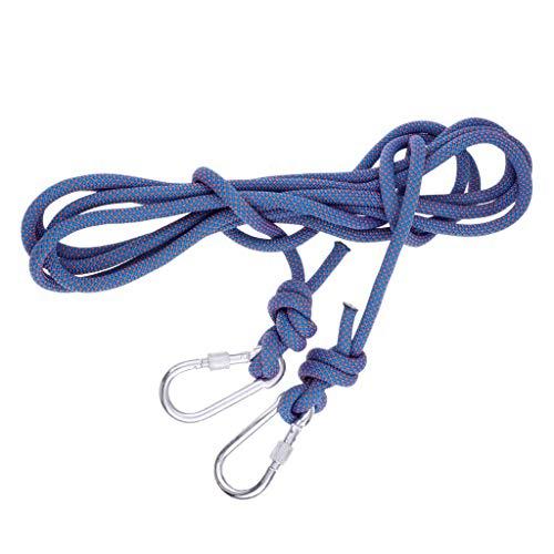 Baoblaze Corde d'escalade Sauvetage Haute Résistance Accessoire Alpinisme - Bleu, 5Mx10MM