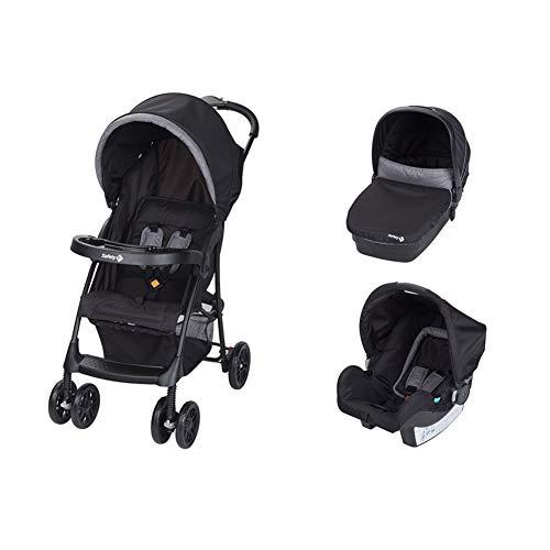 Safety 1st Taly 3 in 1 Trio Kinderwagen mit Babywiege und Babyschale, modulares System, Black Chic