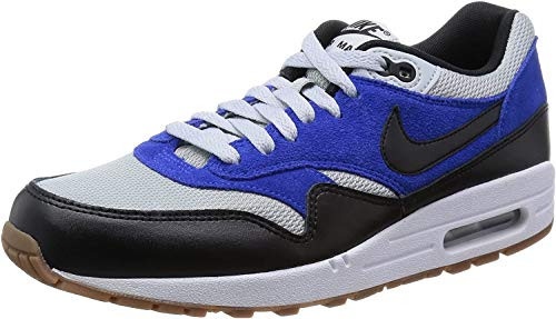 Nike Men's Air Max 1 Essential Shoes, Grey Mist/Black/Lyon Blue, 8