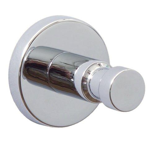 Nie Wieder Bohren hoom Badezimmerhaken, Messing, verchromt, garantiert rostfrei, 36mm x 36mm x 36mm