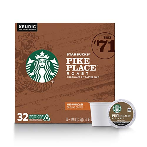 Starbucks Medium Roast K-Cup Coffee Pods — Pike Place Roast for Keurig...