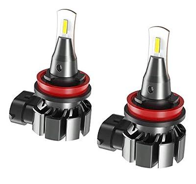 SEALIGHT H8 H11 H16 LED Fog Light Bulb, 5800 Lumens 6000K Xenon White Super Bright CANBUS LED Lights, Halogen Fog Light Bulb Replacement for Cars Trucks Vans, Pack of 2