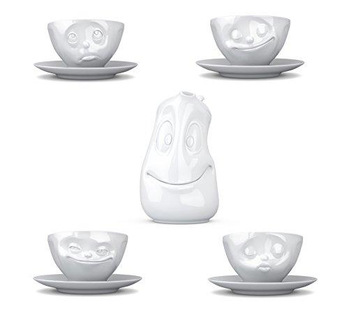 Fiftyeight Geschirrset 5-teilig / 4 Kaffeetassen und Tee- bzw. Kaffeekanne (1,2l)