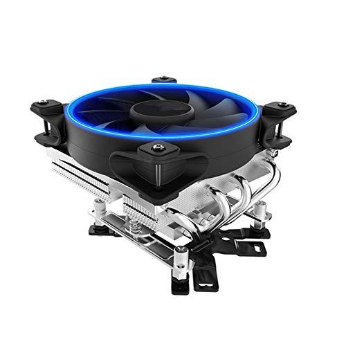 GWX Radiador CPU Radiador Equipo De Refrigeración del Ventilador 4 De Tubería De Calor De Enfriamiento De 12 Cm Ventilador Inteligente Mute Soporta El Control De Temperatura Inteligente