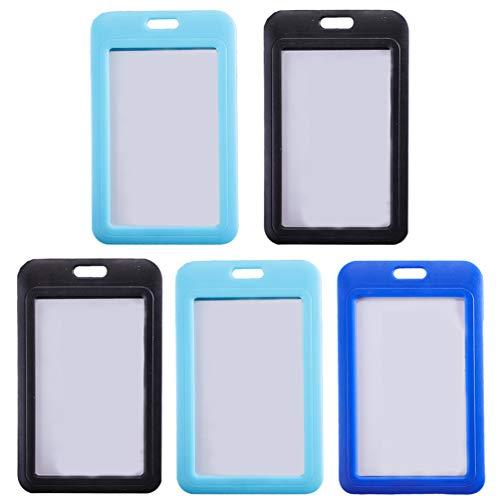 KESYOO 5 Stks Badge Houder Plastic Id-Kaart Houder Portemonnee Case Pocket Voor Kaart Bescherming Sleutelhanger Gordijnen (Willekeurige Kleur)