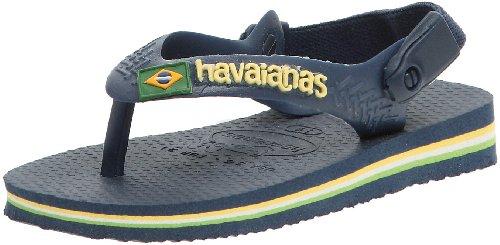 Havaianas Brasil Logo Sandalen, Marineblau 0555, 21 EU