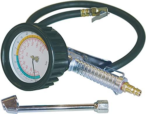 """Güde 2752 """"Profi"""" miernik ciśnienia powietrza do opon do 11 bar, duży manometr"""