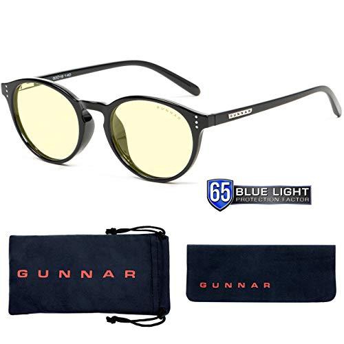 Gunnar Optiks att-00101attaccato computer occhiali–Blocco blu chiaro, antiriflesso, minimizza Digital Eye Strain, onice/ambra
