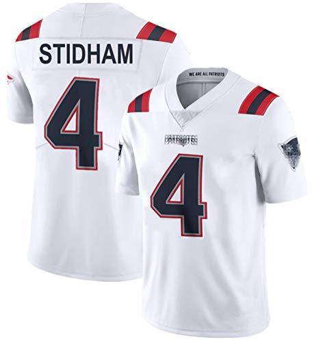 PǎTriots Stidham # 4 Camiseta De Fútbol Americano NÉW ENGLÁND, Rugby Jersey Bordado para Hombres Bordados Camiseta Camiseta DE Manera Corte DE Mayor Black-M