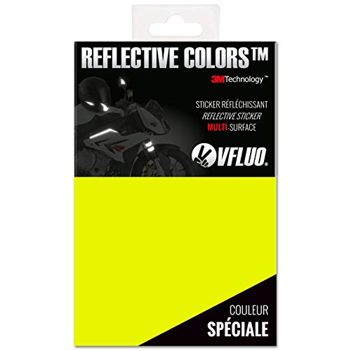 VFLUO 3M REFLECTIVE COLORS™, Universal adhesive DIY kit for Helmet/motorcycle/Scooter/Bike, 3M Technology™, 10 x 15 cm sheet, Fluo Yellow