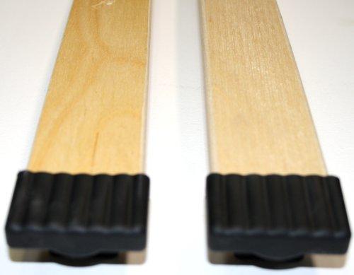 BOSSASHOP.de 10er Paket Kappen zur Befestigung von Leisten im Lattenrost (schwarz, 10x65mm)