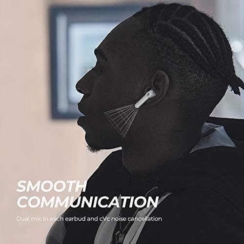 SoundPEATS Auricolari Senza Fili, Cuffie In-Ear Bluetooth 5.2 TrueAir2 Eliminazione del Rumore CVC, Controllo Touch, Auricolare Wireless Bluetooth con 4 Microfoni, 25 ore di Reprodurre