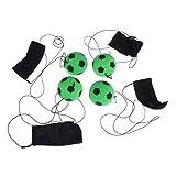 STOBOK 4pcs muñequera Pelotas de Pelota Que rebotan de Goma Verde fútbol de Mano con muñequeras para niños Pelotas de Salto Juguete Fitness Pelota de Mano