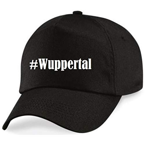 Reifen-Markt Base Cap Hashtag #Wuppertal Größe Uni Farbe Schwarz Druck Weiss