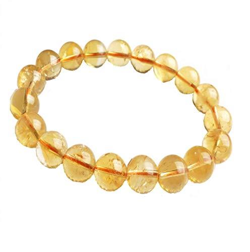 Dhyanarsh - Pulsera de piedra citrina certificada 100% original y de laboratorio para hombres y mujeres, unisex