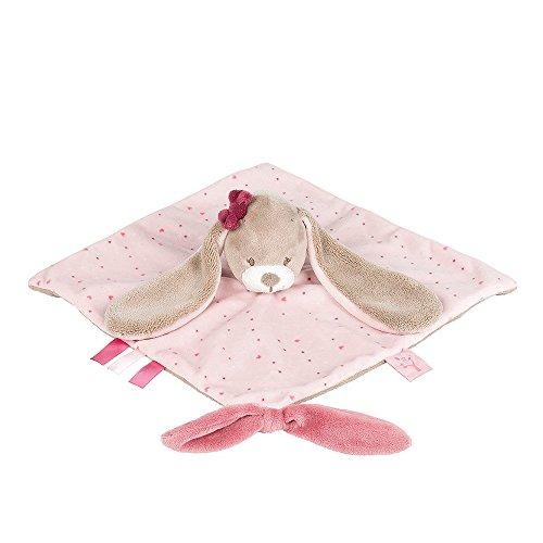 *Nattou Schnuffeltuch Mädchen, 30 x 30 cm, rosa – Nina das Kaninchen*