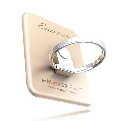 BUNKER RING Essentials(Matt 6 Color) バンカーリング iPhone/iPad/iPod/Galaxy/Xperia/スマートフォン・タブレットPCを指1本で保持・落下防止・スタンド機能(ゴールド)