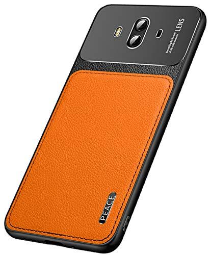 """MOONCASE Huawei Mate 10 Caso,Ultra Fino Couro PU Macio TPU Mate Metal Fosco Capa de Proteção Câmera Capa à Prova de Choque para Huawei Mate 10 5.9"""" -Laranja"""