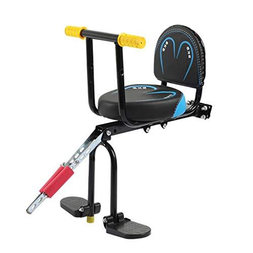 Asiento de bicicleta para niños Sillín de bicicleta niño con manija de la seguridad Pedales, Asiento infantil for el amortiguador delantero soporte for bicicleta de seguridad for sillas de Carrier dep