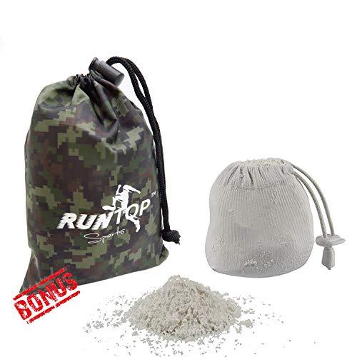 RUNTOP Bola de tiza recargable de magnesio carbonato de magnesio para levantamiento de pesas, entrenamiento de fitness, WODS, gimnasia, escalada, levantamiento de pesas, entrenamiento antideslizante