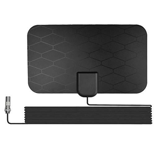 flouris Antenne TV numérique amplifiée HD intérieure extérieure Longue 200 Miles Gamme Fenêtre HDTV Antenna 4K 1080P UHF VHF Vue Libre, Booster Signal Smart Indoor Smart Signaler Signal Signal