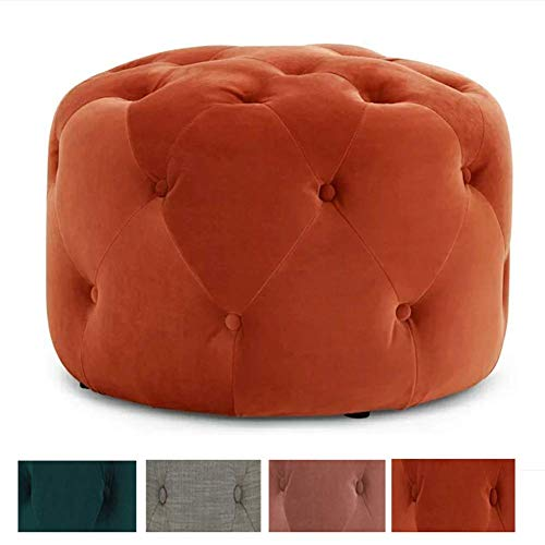 Foot Stool Fabric Shoe Stool Ottoman Home Round Stool Scandinavian Style Sofa Stool For Bedroom Living Room Office A