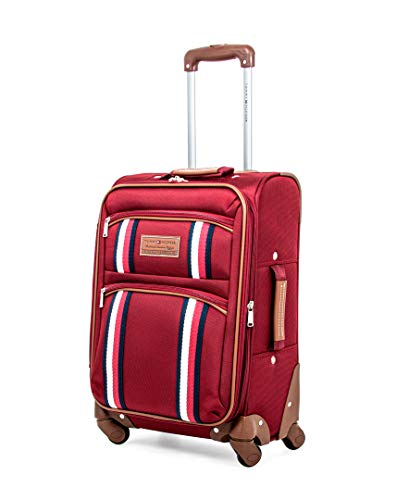 Tommy Hilfiger Scout 5.0 Softside Expandable Spinner Luggage, Red, 20 Inch